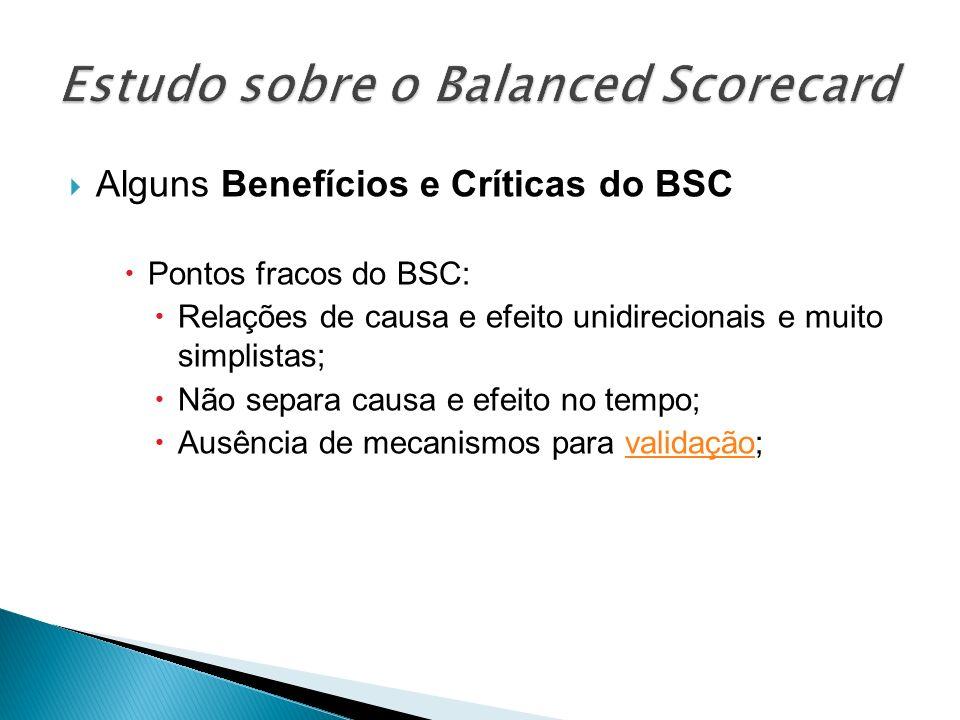 Estudo sobre o Balanced Scorecard