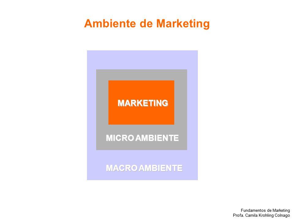 Ambiente de Marketing MARKETING MICRO AMBIENTE MACRO AMBIENTE