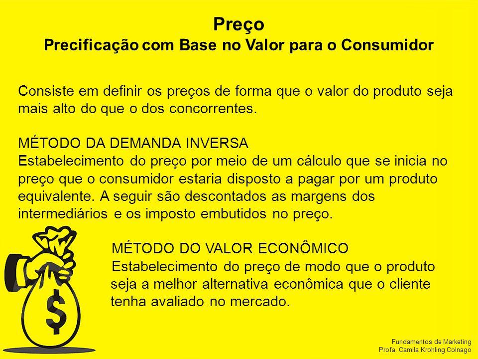 Precificação com Base no Valor para o Consumidor