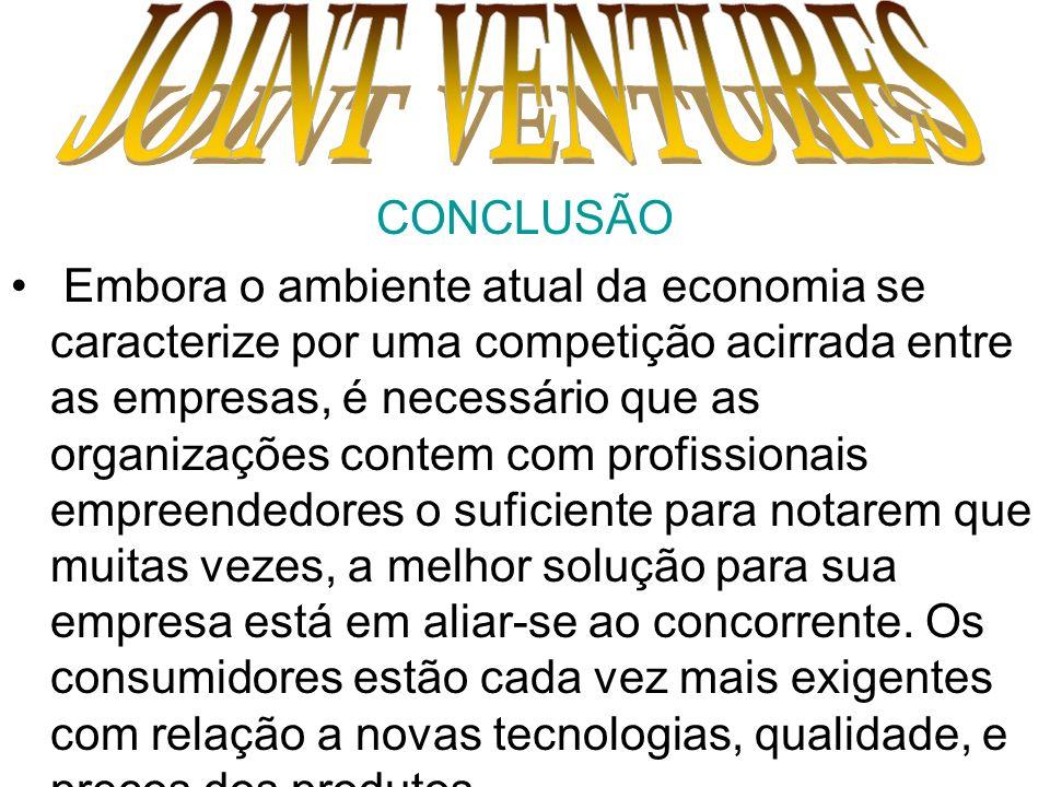 JOINT VENTURES CONCLUSÃO.