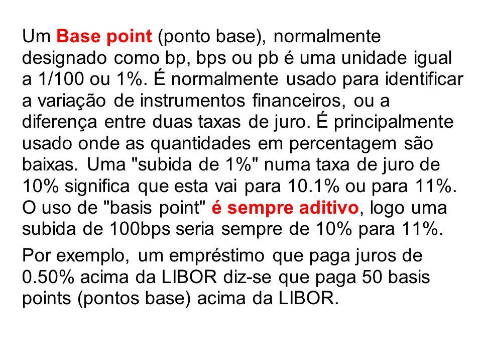 Um Base point (ponto base), normalmente designado como bp, bps ou pb é uma unidade igual a 1/100 ou 1%. É normalmente usado para identificar a variação de instrumentos financeiros, ou a diferença entre duas taxas de juro. É principalmente usado onde as quantidades em percentagem são baixas. Uma subida de 1% numa taxa de juro de 10% significa que esta vai para 10.1% ou para 11%. O uso de basis point é sempre aditivo, logo uma subida de 100bps seria sempre de 10% para 11%.