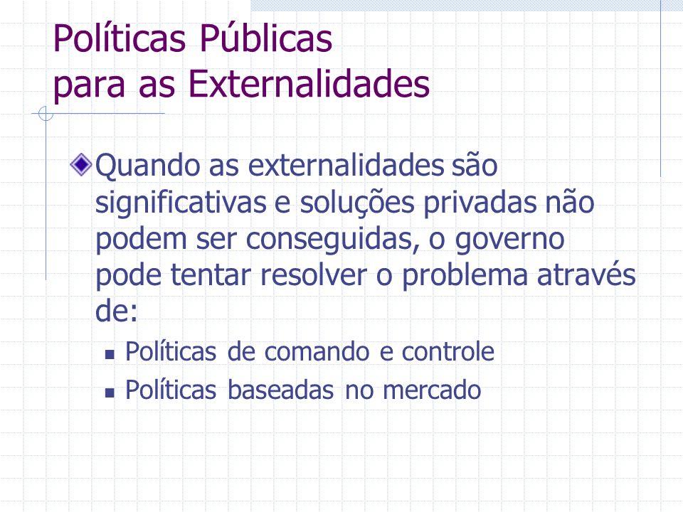 Políticas Públicas para as Externalidades