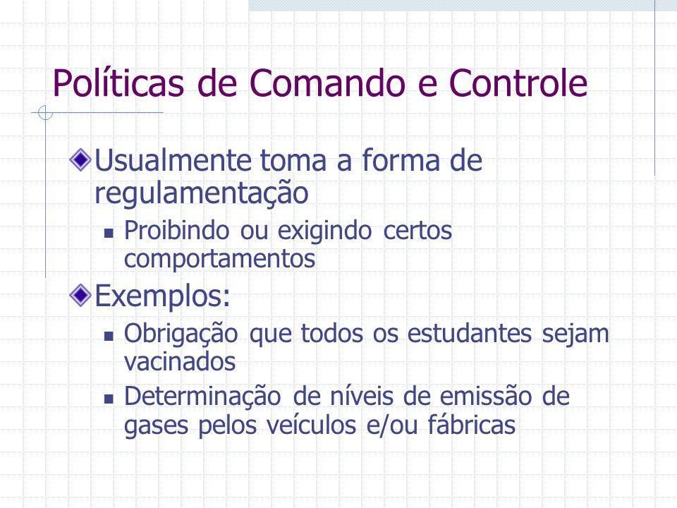 Políticas de Comando e Controle