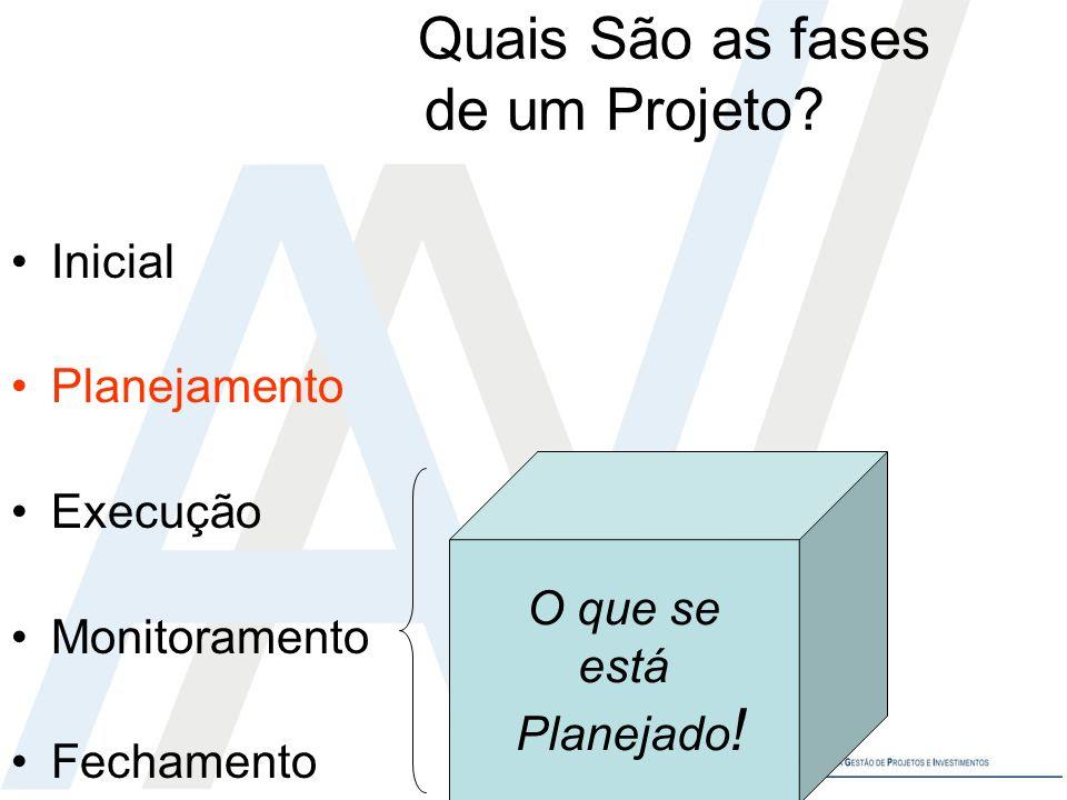 Quais São as fases de um Projeto