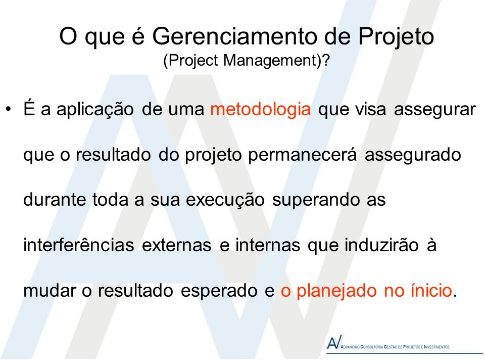 O que é Gerenciamento de Projeto (Project Management)