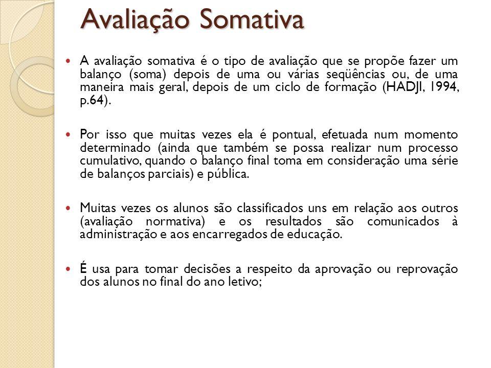 Avaliação Somativa