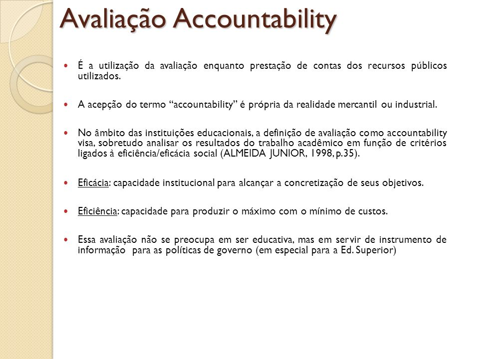Avaliação Accountability