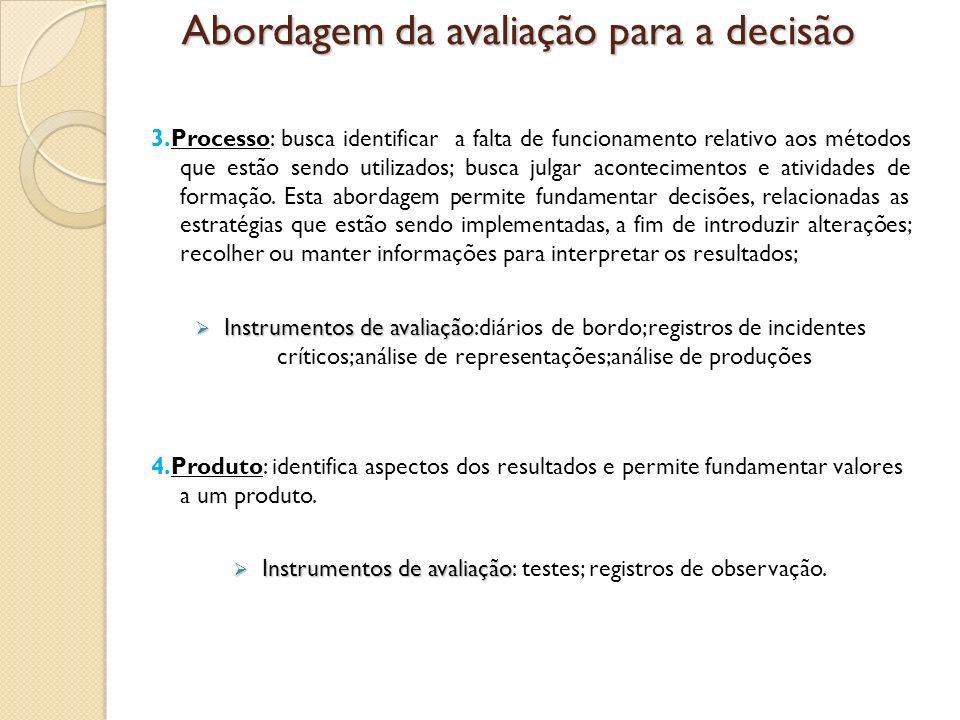 Abordagem da avaliação para a decisão
