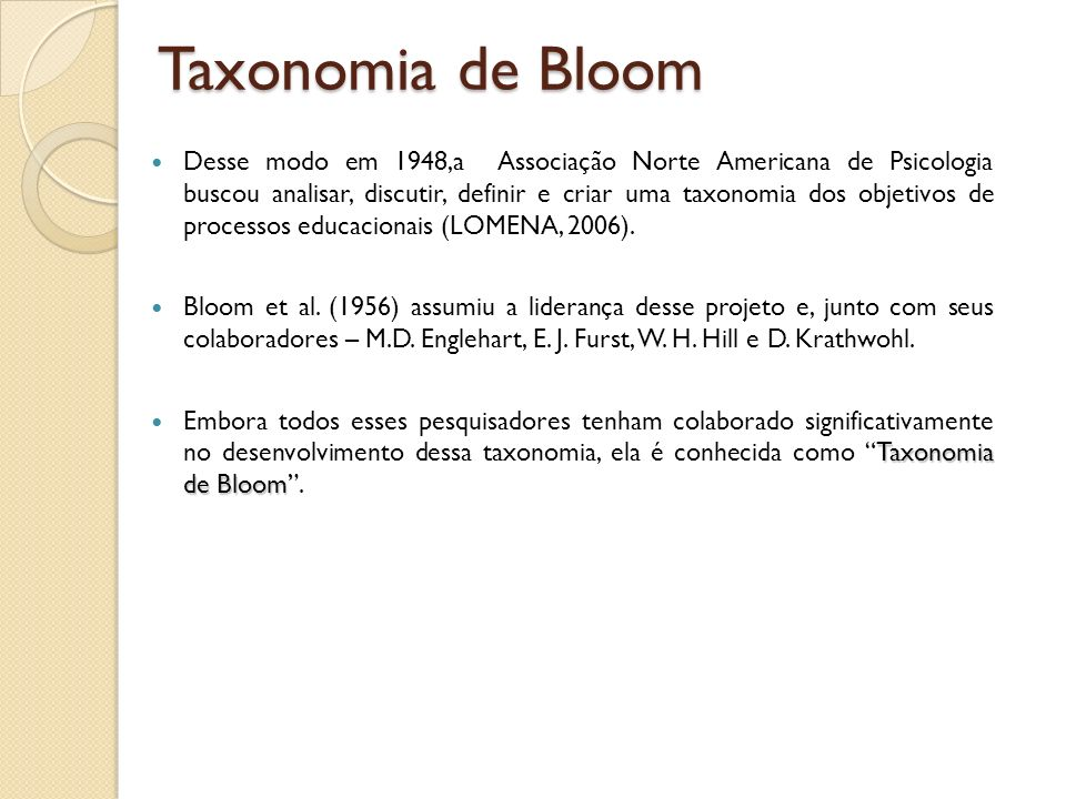 Taxonomia de Bloom
