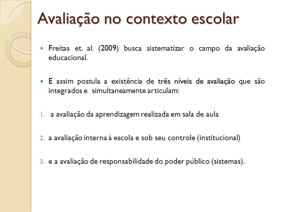 Avaliação no contexto escolar