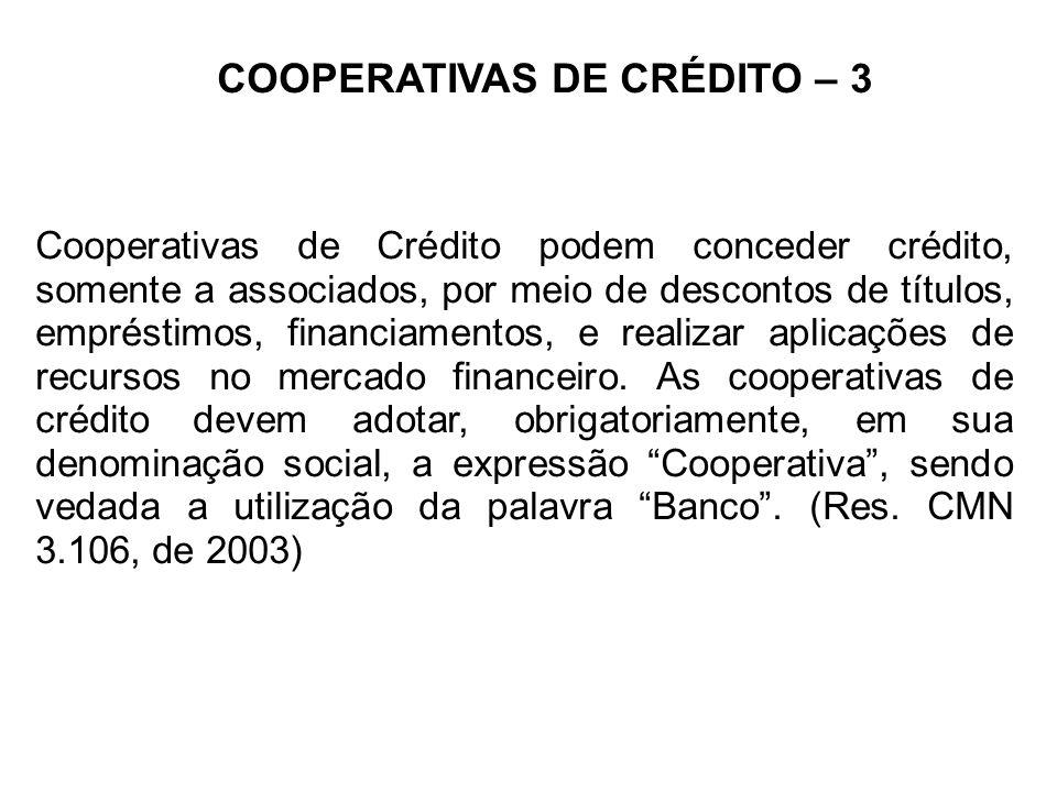COOPERATIVAS DE CRÉDITO – 3