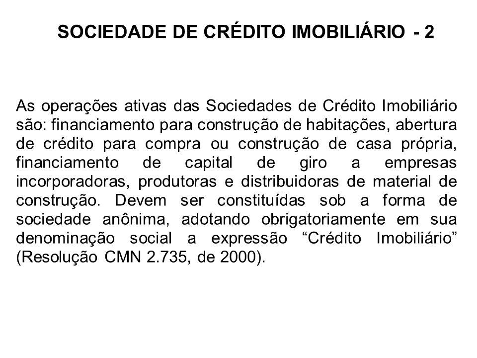 SOCIEDADE DE CRÉDITO IMOBILIÁRIO - 2
