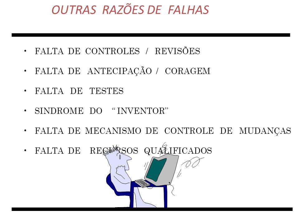 OUTRAS RAZÕES DE FALHAS