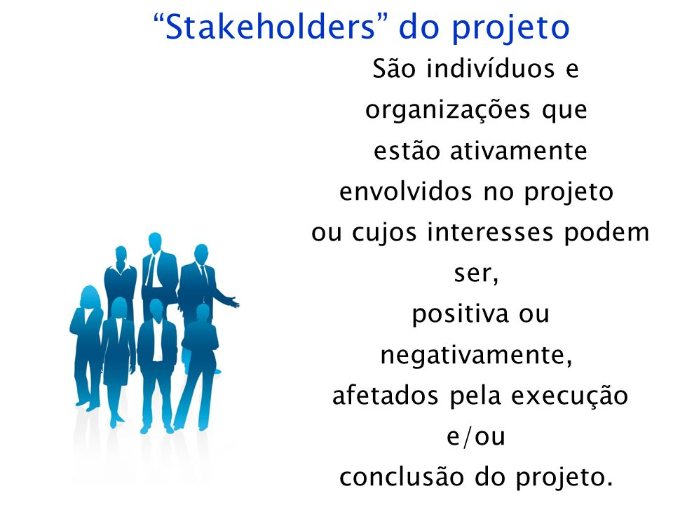 Stakeholders do projeto
