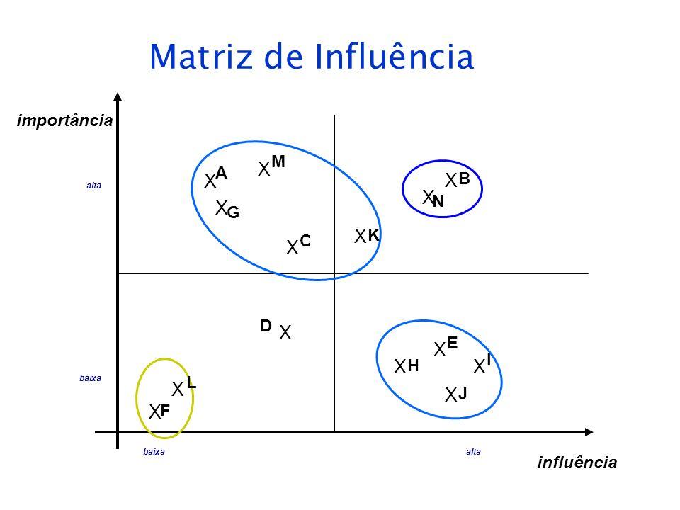 Matriz de Influência X X X X X X X X X X X X X X importância M A B N G