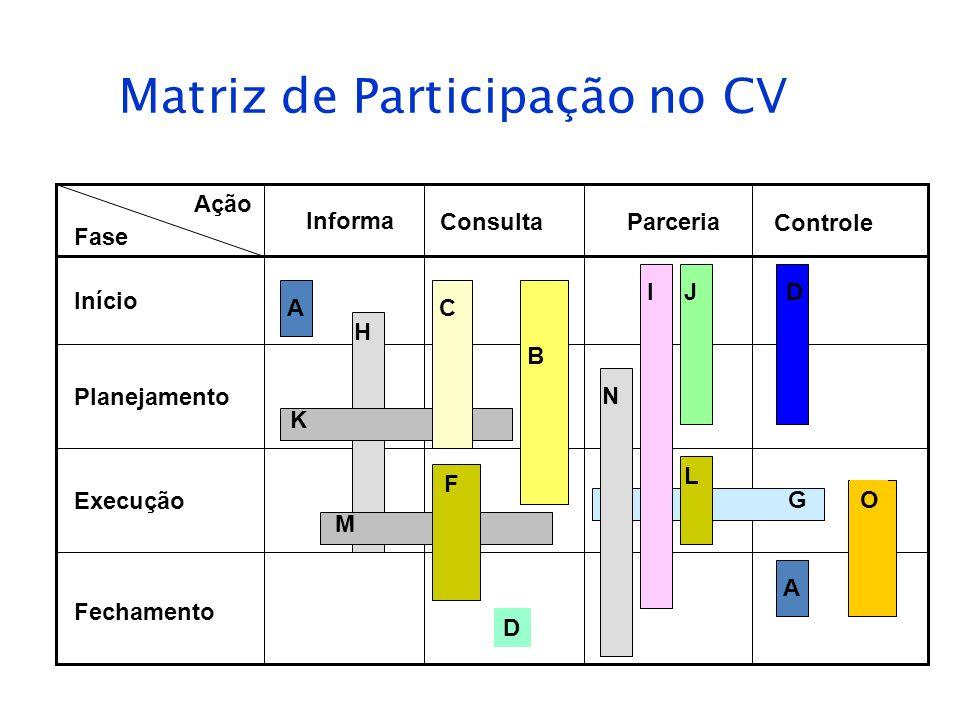 Matriz de Participação no CV