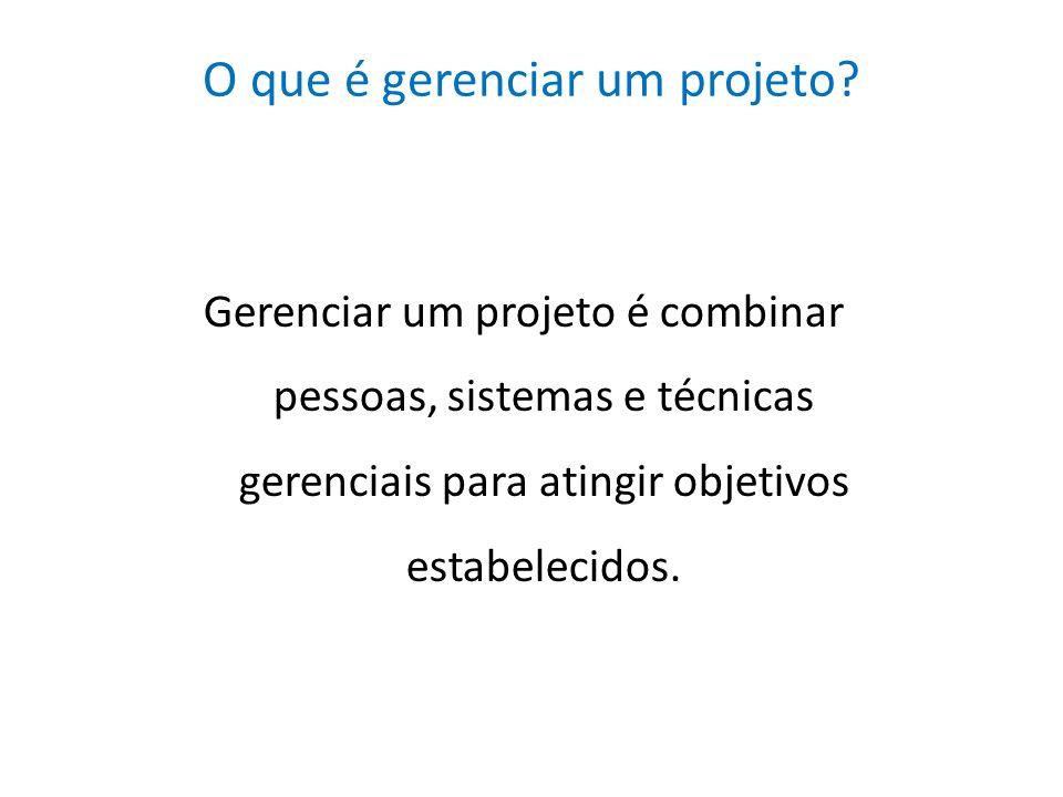O que é gerenciar um projeto