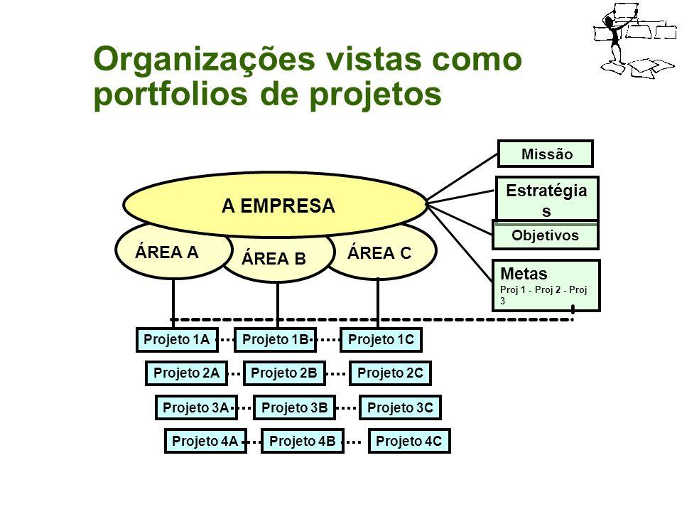 Organizações vistas como portfolios de projetos
