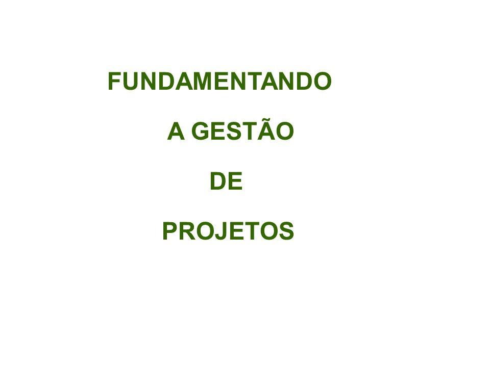 FUNDAMENTANDO A GESTÃO DE PROJETOS