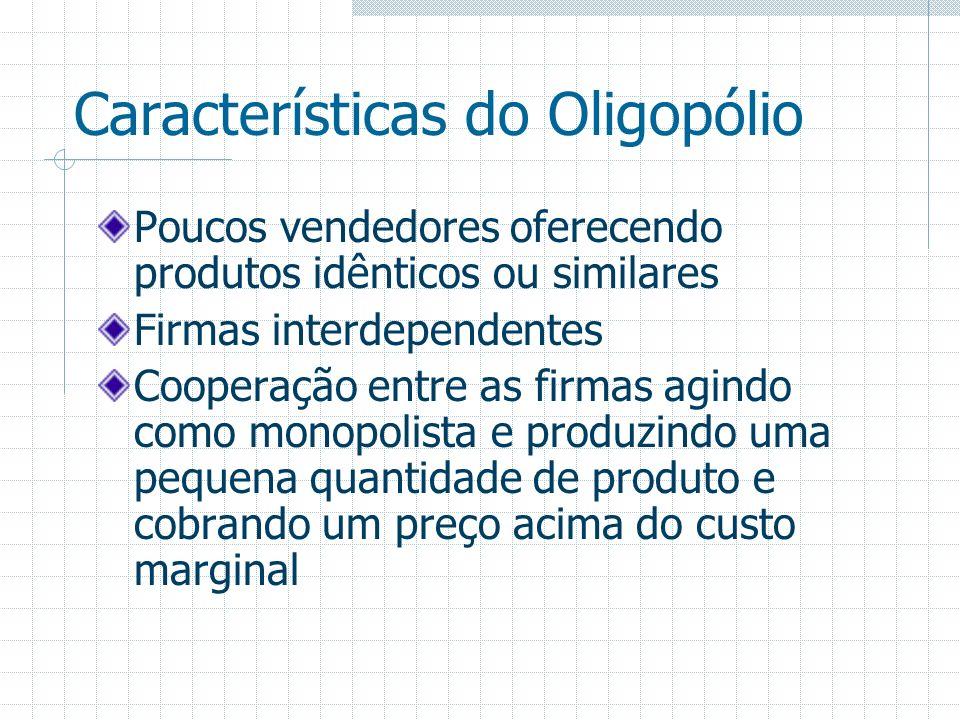 Características do Oligopólio