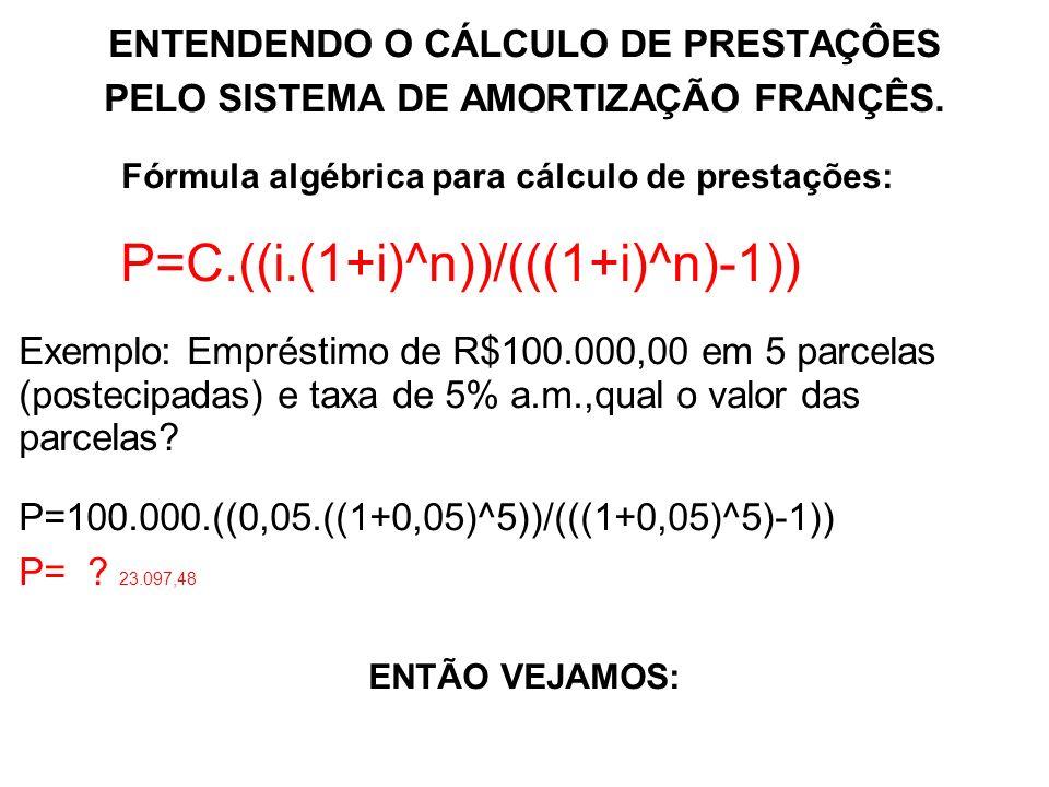 P=C.((i.(1+i)^n))/(((1+i)^n)-1))