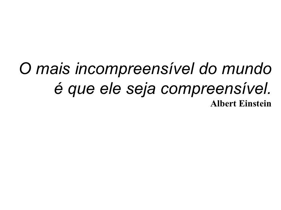 O mais incompreensível do mundo é que ele seja compreensível.