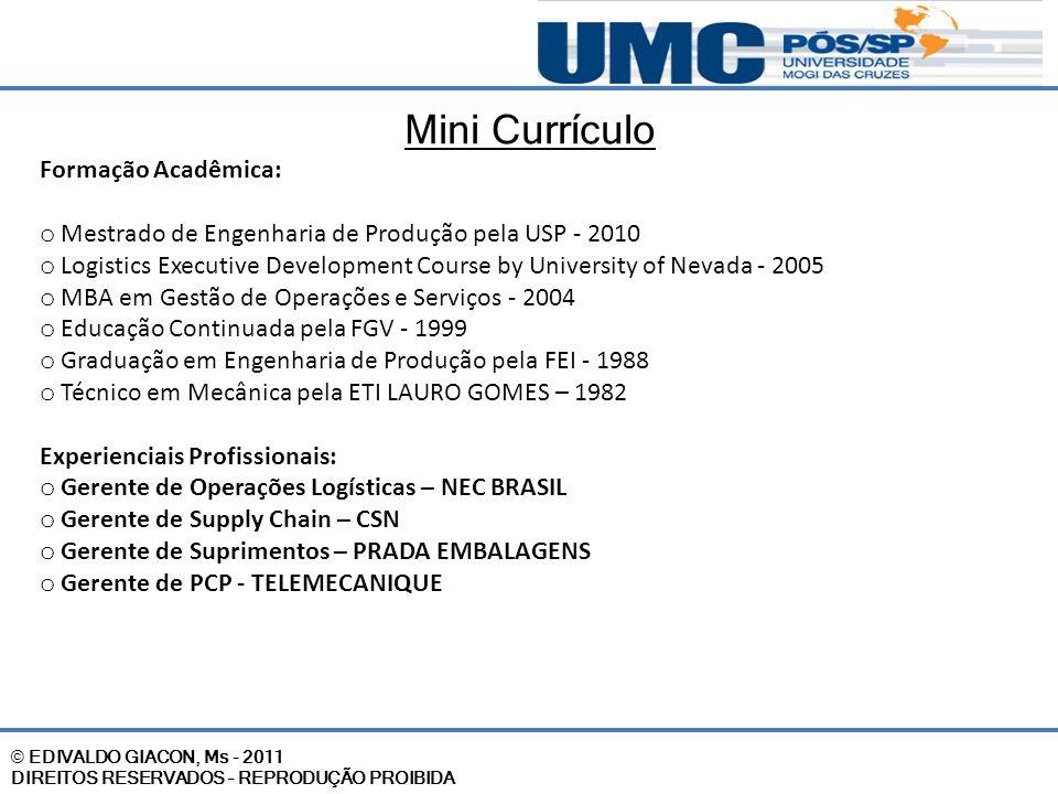 Mini Currículo Formação Acadêmica: