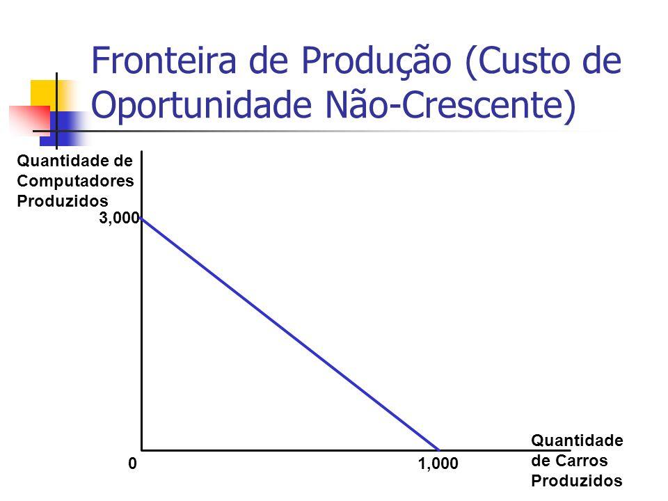 Fronteira de Produção (Custo de Oportunidade Não-Crescente)
