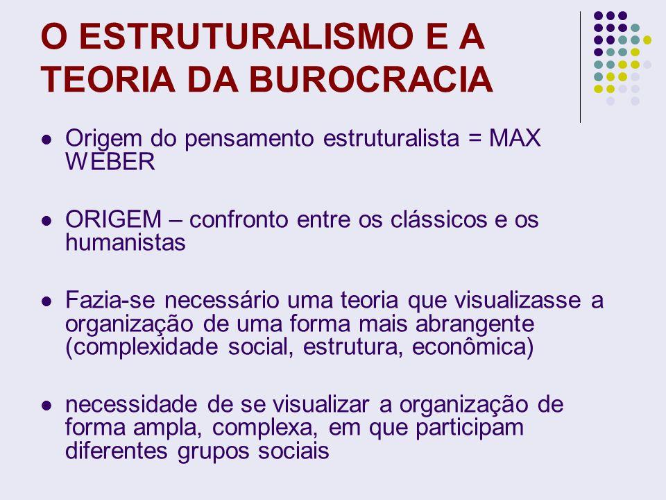 O ESTRUTURALISMO E A TEORIA DA BUROCRACIA