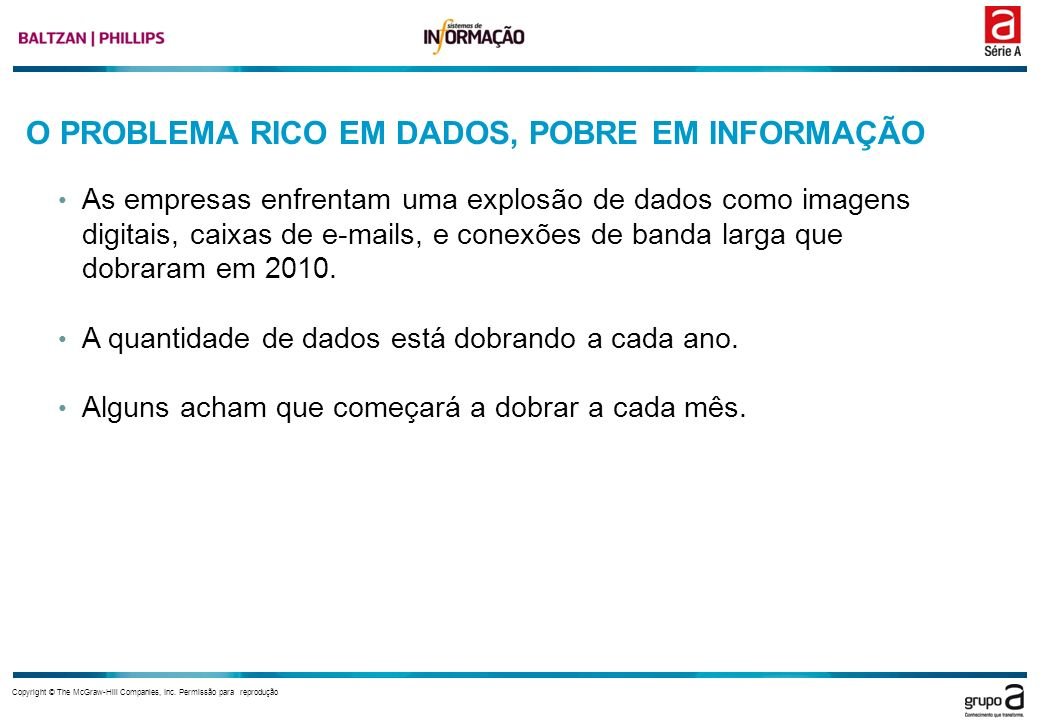 O PROBLEMA RICO EM DADOS, POBRE EM INFORMAÇÃO