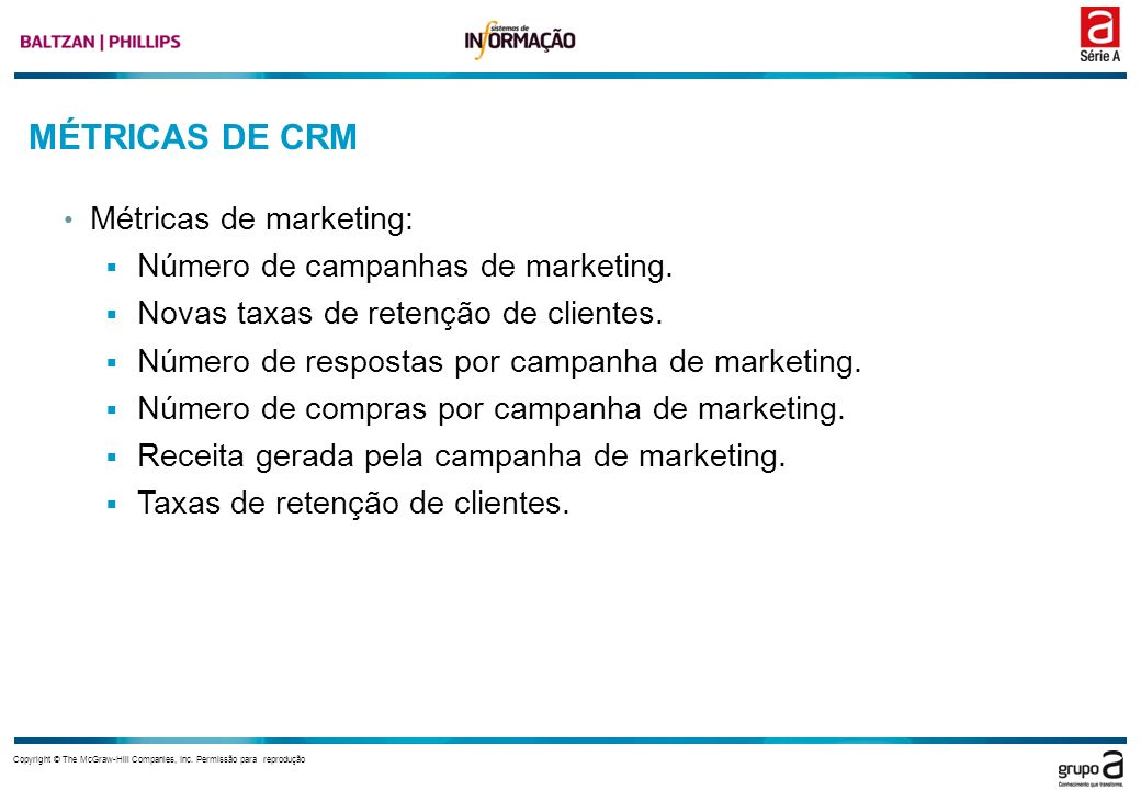 MÉTRICAS DE CRM Métricas de marketing: