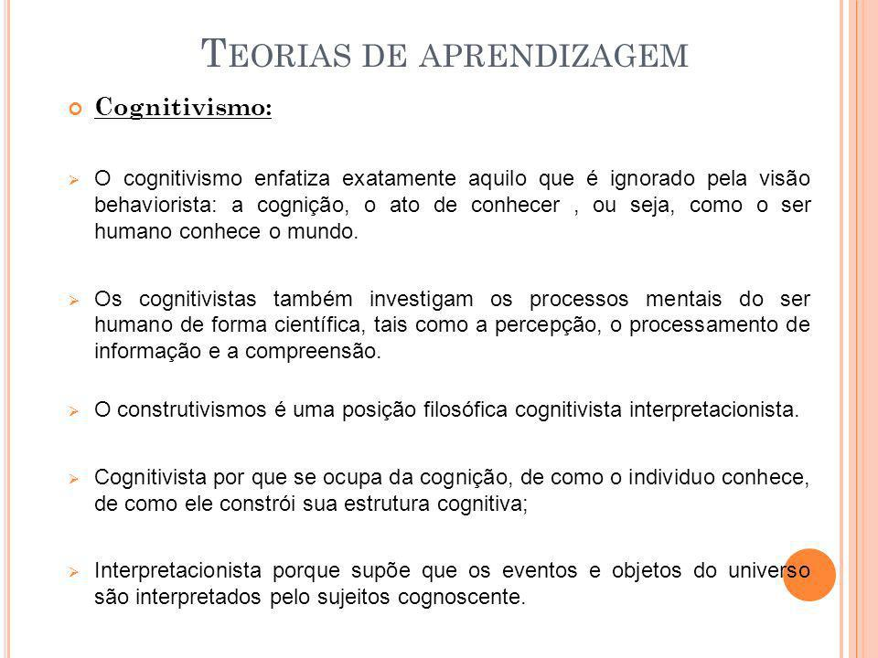 Teorias de aprendizagem