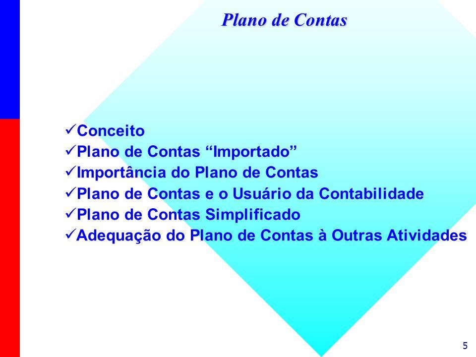 Plano de Contas Conceito Plano de Contas Importado