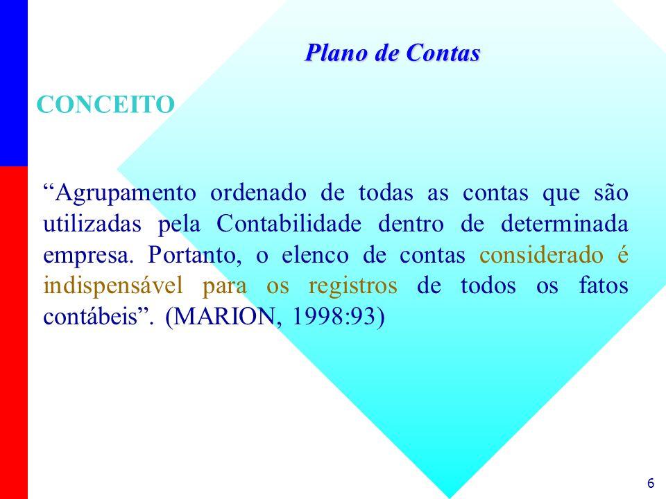 Plano de ContasCONCEITO.