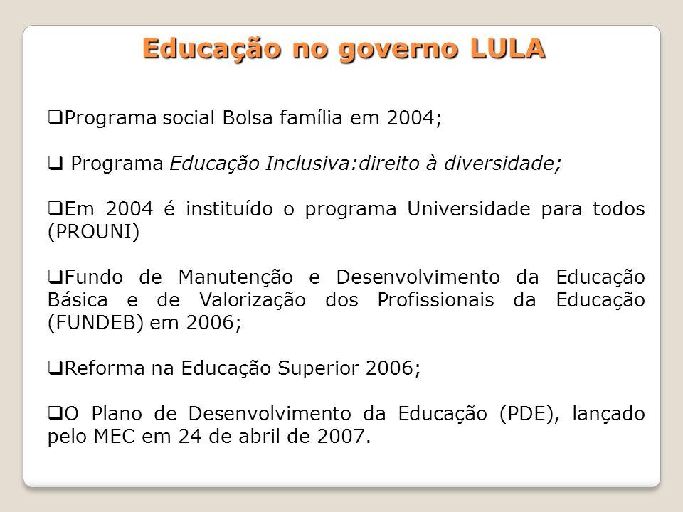 Educação no governo LULA
