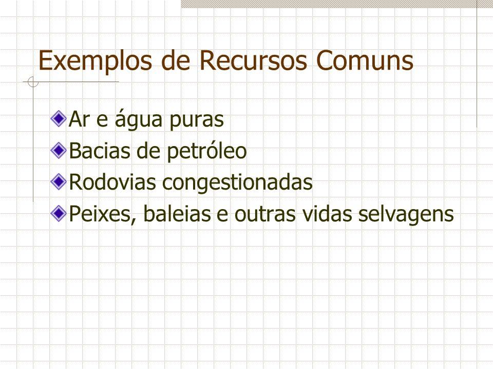 Exemplos de Recursos Comuns