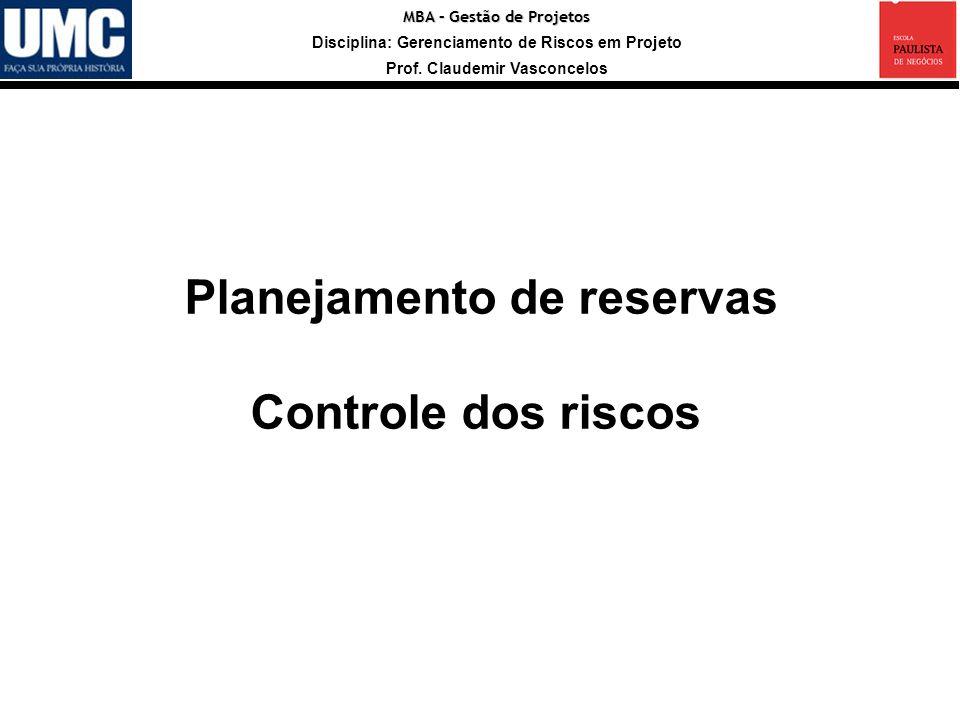 Planejamento de reservas