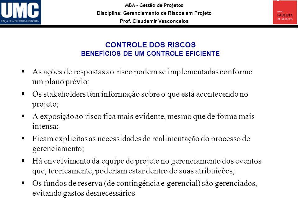 BENEFÍCIOS DE UM CONTROLE EFICIENTE