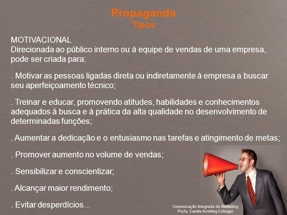 Propaganda Tipos MOTIVACIONAL
