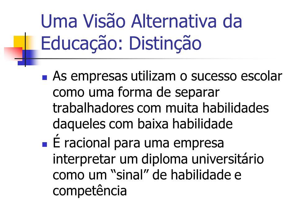 Uma Visão Alternativa da Educação: Distinção