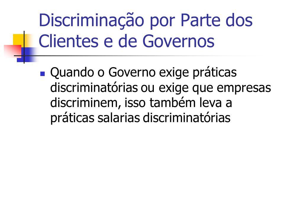 Discriminação por Parte dos Clientes e de Governos
