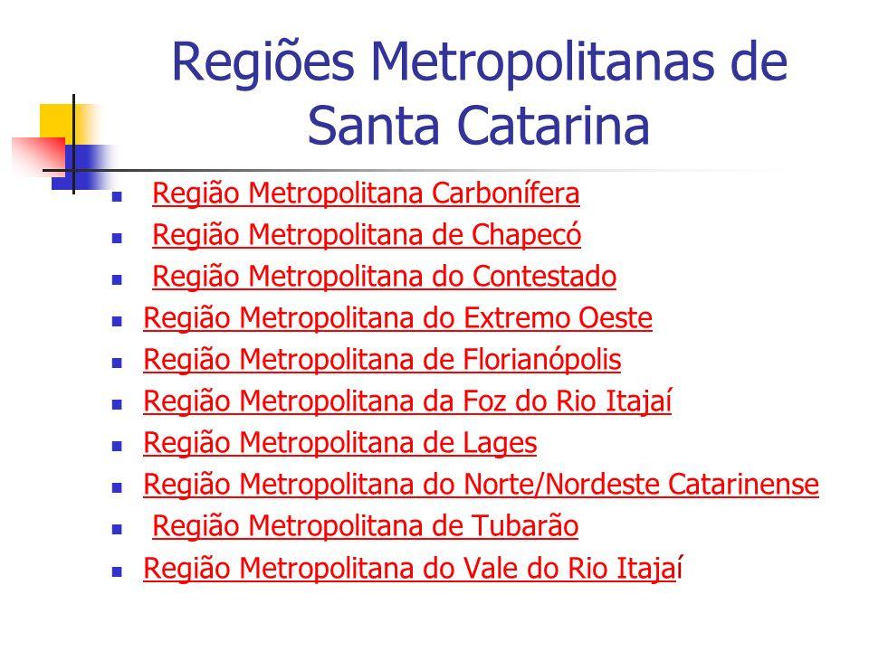 Regiões Metropolitanas de Santa Catarina