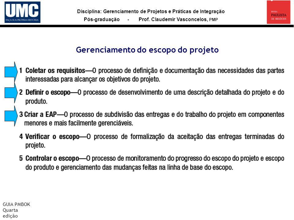 Gerenciamento do escopo do projeto