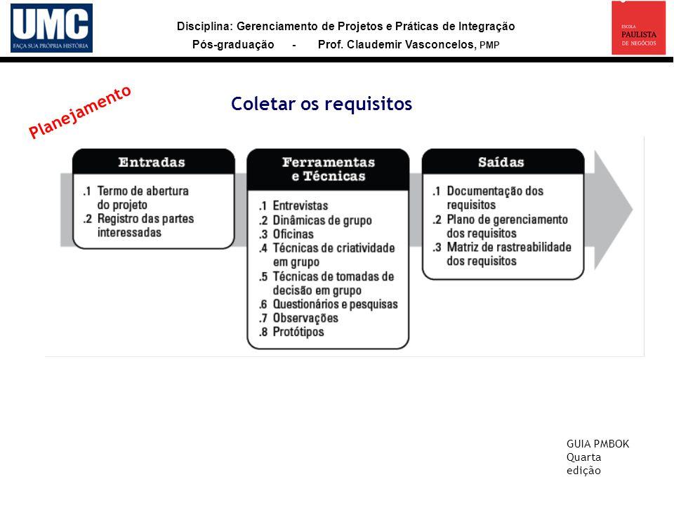 Coletar os requisitos Planejamento GUIA PMBOK Quarta edição 24