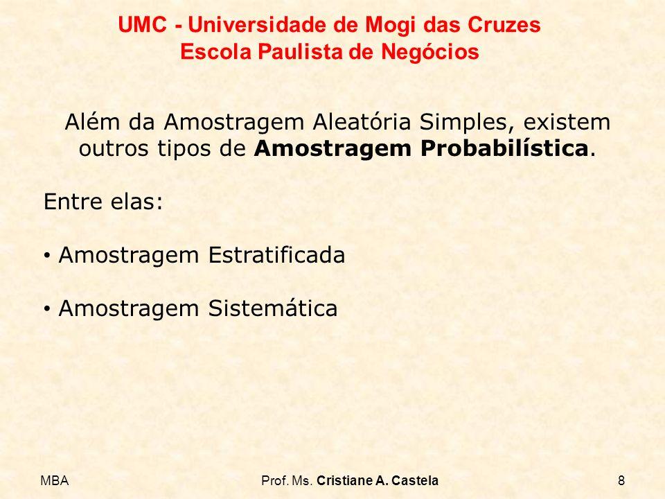 Além da Amostragem Aleatória Simples, existem outros tipos de Amostragem Probabilística.