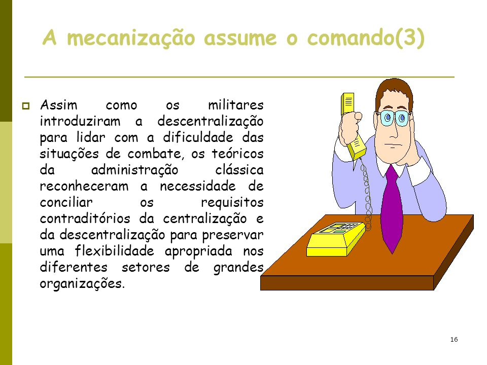 A mecanização assume o comando(3)