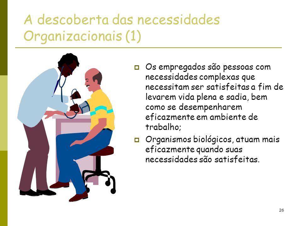 A descoberta das necessidades Organizacionais (1)