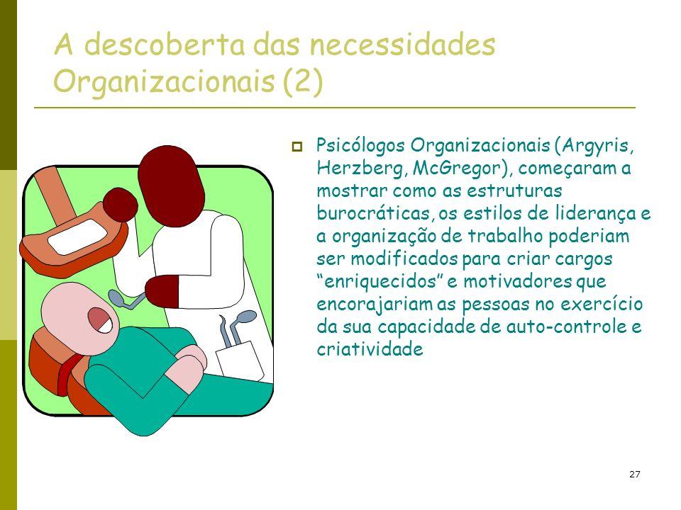 A descoberta das necessidades Organizacionais (2)