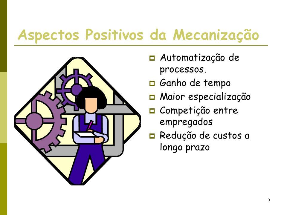 Aspectos Positivos da Mecanização