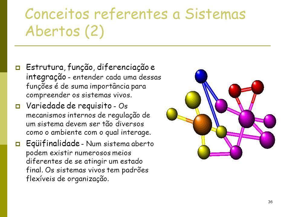 Conceitos referentes a Sistemas Abertos (2)